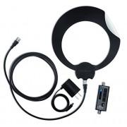 Antennas Direct C2-V-CJM ClearStream 2-V Antena UHF/VHF (Interior y Exterior, Montaje de 50.8 cm), 50 Millas (80.46 km), Blanco/Negro