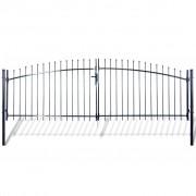 vidaXL Dvojkrídlová ozdobná brána s hrotmi 400 x 200 cm