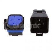 ELECTROPRIME® 3pcs 24V 40A 5 Pin Terminal SPDT Relay Power Switch with Socket Terminals