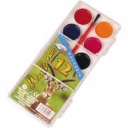 Merkloos Schilderen waterverf set 12 kleuren met kwastje