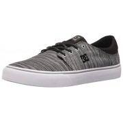 DC Men s Trase TX SE Skateboarding Shoe Black/Grey/Grey 6 D(M) US