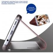 EH Modo De Sueño Smart Wake UP Flip Caso Del Teléfono Móvil Para Samsung Galaxy S8 Plus - Plata Y Rosa