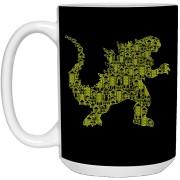 Kaiju 2 - Doodle Art - 15 oz. White Mug - 56