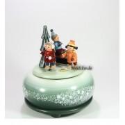 Spieldosen Erzgebirge Erzgebirgische Spieluhr-Spieldose Schlittenkinder