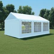 vidaXL Záhradný stan z PVC, 4x6 m, biely