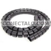 Cubre cables negro de 20mm. Bobina de 25m
