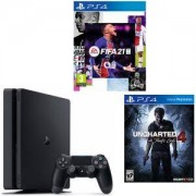 Конзола PlayStation 4 Slim 500GB Black, Sony PS4 + ИГРА Electronic Arts FIFA 21 (PS4) + Игра Uncharted 4: A Thief's End за PS4