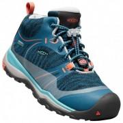 Keen - Kid's Terradora Mid WP - Chaussures de randonnée taille 1, turquoise/bleu