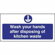 Nisbets Wash Hands Kitchen Waste Sign