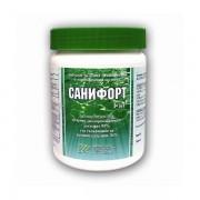 САНИФОРТ - 1 кг. гранулат за дезинфекция на питейна вода и вода в плувни басейни с мерителна лъжичка