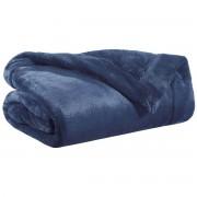 Miliboo Plaid en polyester bleu 150 x 200 cm FERO