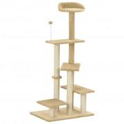 vidaXL Penjalica za mačke sa stupovima za grebanje bež 125 cm