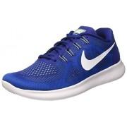 Nike Men's Free RN 2017 Blue Mesh Running Shoe 9. 5 M US
