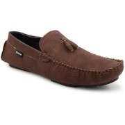 Footista Mens Brown Loafers