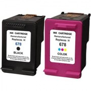 PRODOT 678 black and color compatible cartridge Multi Color Ink PACK OF 2 INK CARTRIDGES