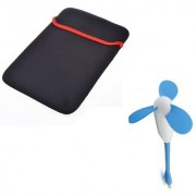 Techvik 2 In 1 Combo of Laptop sleeves With cro Fan