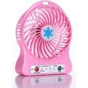SUREELEE RECHARGEABLE MULTI FUNCTIONAL PORTABLE USB FAN (PINK)