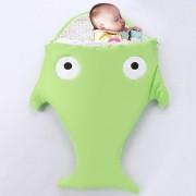 Cute SHARK Estilo Ropa Bolsa De Dormir De Bebe 0 - 6 Meses Baby, Tamaño: 85yard (verde)
