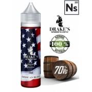 Lichid Tigara Electronica Drakes American Blend Extras Natural din Tutun Organic, Macerat la Rece, 60ml, 3mg NicSalts, DIY, 70VG 30PG