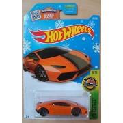 2016 Hot Wheels Holiday Exclusive Snowflake Card Hw Exotics - Lamborghini Huracan LP 610-4 (Orange)