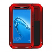 LOVE MEI Huawei Maimang 5 Professional and Powerful Dustproof Shockproof Anti-slip Metal + Silicone Combination Case (Red)
