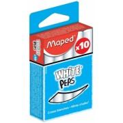 Cutie 10 bucati creta alba Maped
