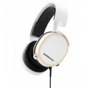 Геймърски слушалки SteelSeries, Arctis 5 White 2019 Edition 7.1, Микрофон, Бял, STEEL-HEAD-61507