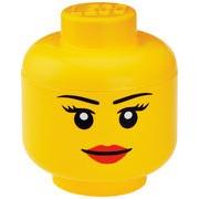 ROOM COPENHAGEN Boîte Lego® Head Girl / Large - ROOM COPENHAGEN jaune en matière plastique