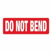 DO NOT BEND Self Adhesive Labels 89x32mm Red&White 1 Roll 1000 Labels