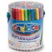 Carioca viltstift Superwashable Joy, 100 stiften in een plastic pot