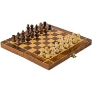 Triple S Handicrafts 12x12 inch Wooden folding Non-magnetic Chess Board Game