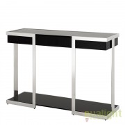 Consola design elegant din otel inoxidabil Serenity stainless steel/ fumuriu 108182 HZ