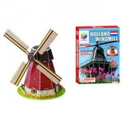 ELECTROPRIME Exquisite Building DIY 3D Mini Puzzle Holland Windmill Jigsaw Collectable