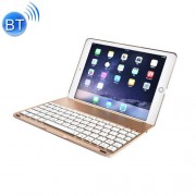 For iPad Pro 9.7 inch Aluminium Alloy Wireless Bluetooth Backlight Keyboard(Gold)