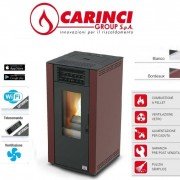 Carinci Stufa A Pellet Ad Aria Carinci Air 85 – 8,87 Kw Colore Bordeaux – New 2019