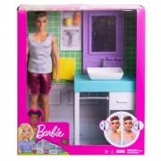 Barbie Ken Shaving And Bathroom Playset FYK53