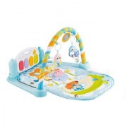 Emob Blue Kick and Crawl Musical Piano Activity Play Mat Gym for Your Little One (Multicolor)