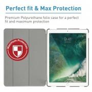 Macally Stand Case - полиуретанов калъф и поставка за iPad Pro 10.5 (сив)