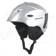 MOON MS-92 bicicleta de una pieza PC + EPS casco de bicicleta - plata (l)