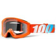 100% Strata Los niños gafas de Motocross Azul Naranja un tamaño