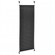 PremiumXL - [neu.haus] Plise zavjese / plise zavjese,sjenilo - 85 x 125 cm - crna- zaštita od sunca i svjetlosti - sjenilo - bez bušenja