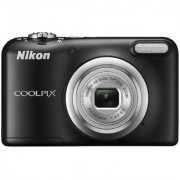 Nikon Coolpix A10 Point and Shoot Digital Camera (Black) with 16GB Memory Card Camera Case and Rechargeable Batteries