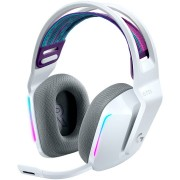 HEADPHONES, LOGITECH G733 LIGHTSPEED, Gaming, Microphone, Wireless, RGB, White (981-000883)