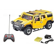Magicwand® 1:16 Scale Rechargeable R/C H2 Hummer with Opening Doors & Glowing Headlights (Lemon Yellow)