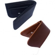 Combo of Men Casual Black Genuine Leather Wallet