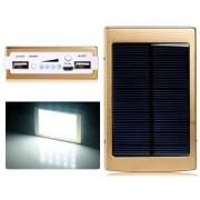 Callmate Power Bank Solar LED 13000 mAh - Golden - 6 Months Warranty