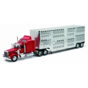 Camion diecast Kenworth W900 cromat pt transport animale vii 1 32