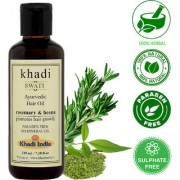 Khadi Swati Herbal Rosemarry Henna Oil for Hair Growth - 210 ML