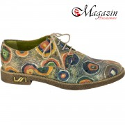 Pantofi Dama Piele Naturala - Prego - 117 Paun