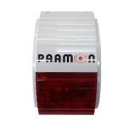 Paamon Sirena con Luz Estroboscópica PM-SSWA, Inalámbrico, 115dB, Blanco